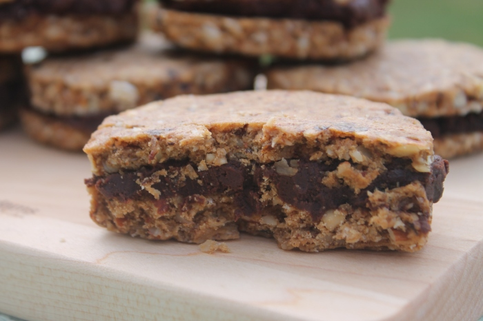 Dried Plum Sandwich Cookies with Chocolate Ganache Filling | The Lazy Vegan Baker