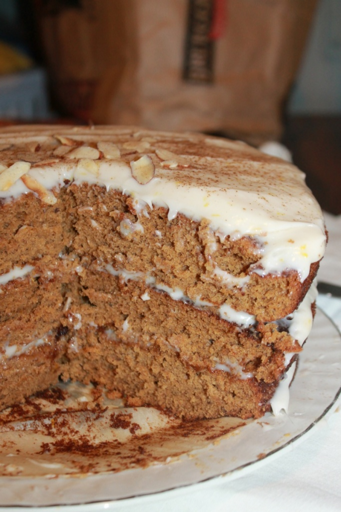 Three Layer Spice Cake with Cream Cheese Frosting | The Lazy Vegan Baker