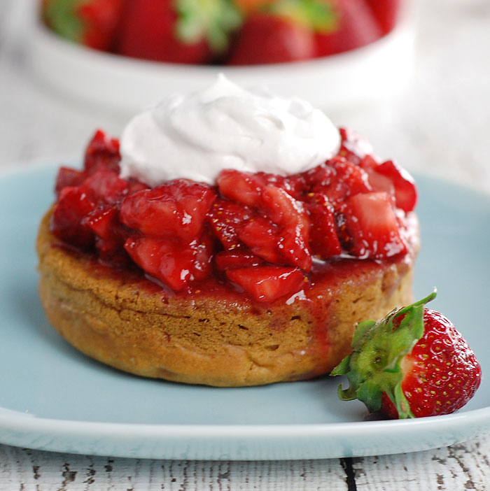 healthy slow cooking lavender gin strawberry shortcakes