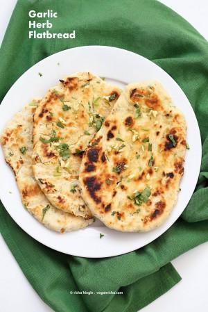 vegan richa herb garlic flatbread
